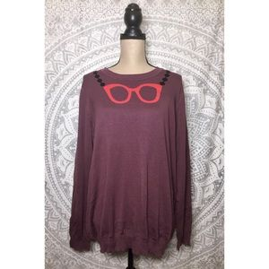 Modcloth Sweaters - NWT MODCLOTH Quirky Glasses Pullover Sweater